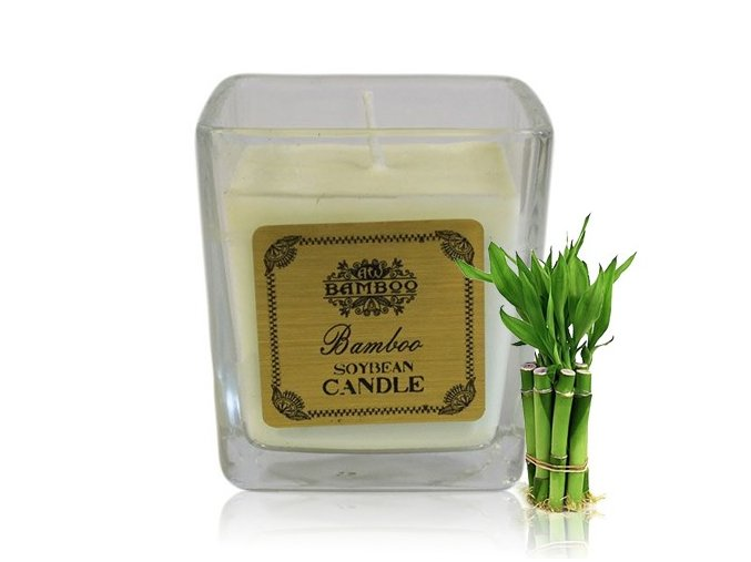 Sojová vonná svíčka Bambus, 200 g