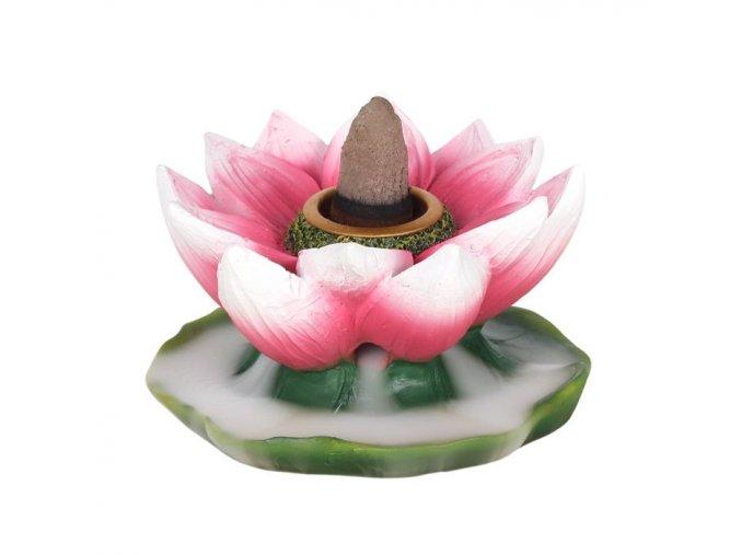 Stojan na vonné kužely Tekoucí dým Lotosový květ, 7 cm