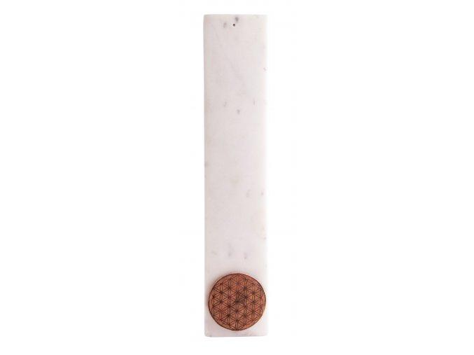 Stojánek na vonné tyčinky Květ života mramor, 25 x 5 cm