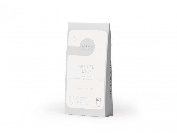 MR&MRS FRAGRANCE Vonná karta Miss Door, bílá WHITE LILY, 1 ks