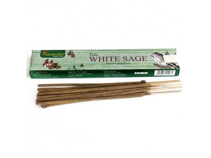 Aromatika Vedic Vonné tyčinky Bílá šalvěj, 15 g
