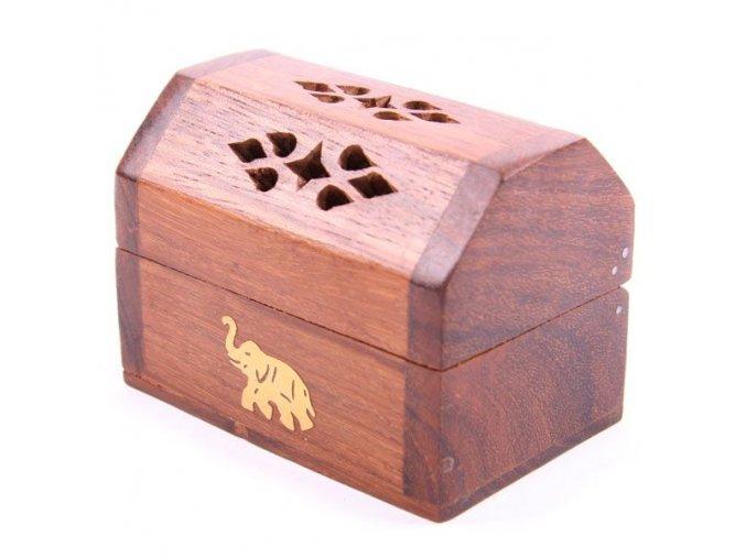 Stojánek na vonné kužely Truhlička dřevo palisandr, 6 x 8 x 5