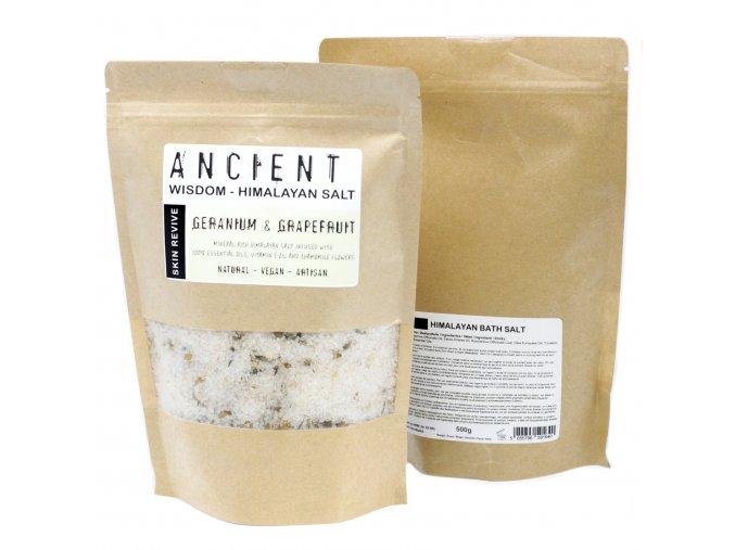 Ancient Wisdom Himalájská koupelová sůl Obnovení pokožky, 500 g.