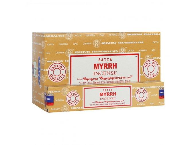 Shrinivas Satya Vonné tyčinky Myrrh, 15 g