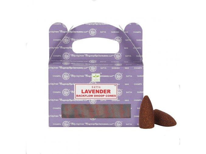 Shrinivas Satya Vonné kužely tekoucí dým Lavender, 24 ks