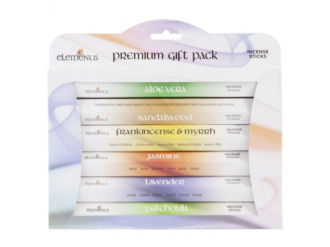 Elements Premium Vonné tyčinky Dárková sada, 6 x 20 ks