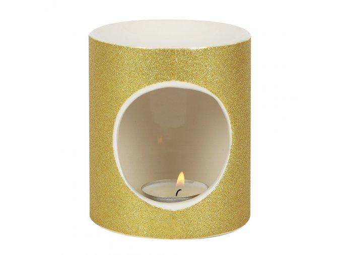 Aroma lampa Zlaté třpytky, 10 x 9 x 9 cm