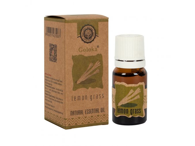 Goloka Natural Essential Oil Lemon Grass Citronová tráva, 10 ml