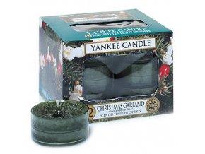 Čajová svíčka Yankee Candle Christmas Garland