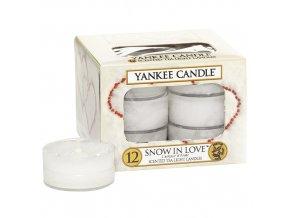 Čajová svíčka Yankee Candle Snow in Love