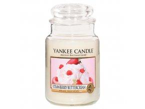 Vonná svíčka ve skleněné dóze Jahody se šlehačkou - Strawberry Buttercream, 623 g