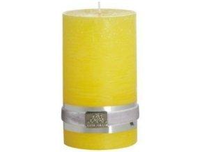 Svíčka RUSTIC žlutá L hoří 85 hodin