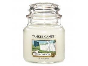 Vonná svíčka ve skleněné dóze Čistá bavlna - Clean Cotton, 411 g