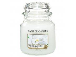 Yankee Candle Vonná svíčka Bílá gardénie (White Gardenia), 411 g