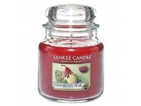 Vonná svíčka ve skleněné dóze Hrušky v brusinkovém sirupu - Cranberry Pear, 411 g