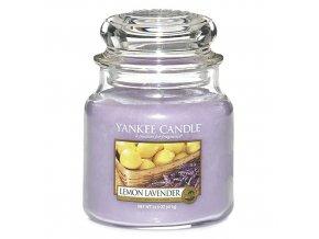 Vonná svíčka ve skleněné dóze Citrón a levandule - Lemon Lavender, 411 g