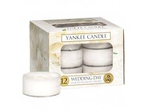 Yankee Candle Čajová svíčka Svatební den (Wedding Day), 12 ks