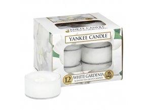 Yankee Candle Čajová svíčka Bílá gardénie (White Gardenia), 12 ks