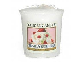 Votivní svíčka Yankee Candle Jahody se šlehačkou, 49 g