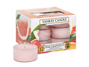 Čajová svíčka Růžový grep - Pink Grapefruit, 12 ks