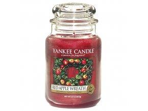Vonná svíčka ve skleněné dóze Věnec z červených jablíček - Red Apple Wreath, 623 g