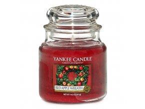 Vonná svíčka ve skleněné dóze Věnec z červených jablíček - Red Apple Wreath, 411 g