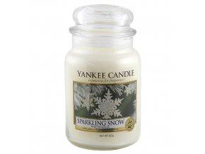 Vonná svíčka ve skleněné dóze Třpytivý sníh - Sparkling Snow, 623 g