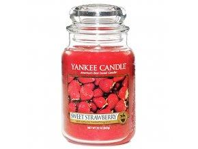 Vonná svíčka ve skleněné dóze Sladké jahody - Sweet Strawberry, 623 g