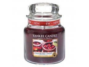 Vonná svíčka ve skleněné dóze Brusinková lahoda - Cranberry Twist, 411 g