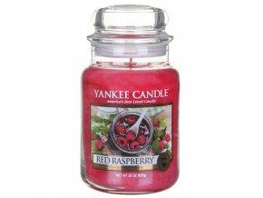 Vonná svíčka ve skleněné dóze Červená malina - Red Raspberry, 623 g