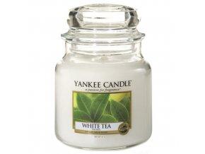 Vonná svíčka ve skleněné dóze Bílý čaj - White Tea, 411 g