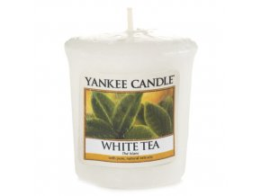 Votivní svíčka Yankee Candle Bílý čaj, 49 g