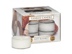 Yankee Candle Čajová svíčka Jemná přikrývka - Soft Blanket, 12 ks