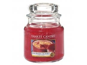 Vonná svíčka ve skleněné dóze Rebarborový crumble - Rhurbarb Crumble, 411 g