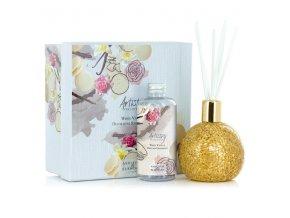 Aroma difuzér GOLDEN ORB s vůní WHITE VANILLA ARTISTRY, 180 ml