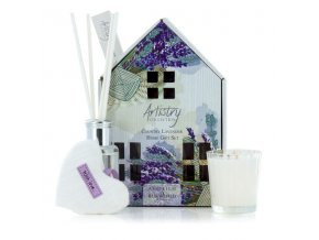 Dárkový set ARTISTRY - COUNTRY LAVENDER (venkovská levandule), vonná svíčka a aroma difuzér