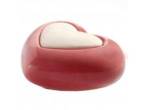 Aroma difuzér keramický Air Design srdce, červený