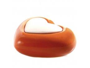 Aroma difuzér keramický Air Design srdce, oranžový