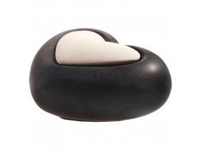 Aroma difuzér keramický Air Design srdce, černý