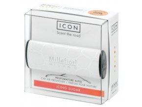 Vůně do auta Millefiori Milano Icon Moučkový cukr bílá