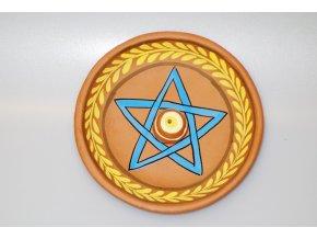 Stojánek na vonné tyčinky Pentagram terakota