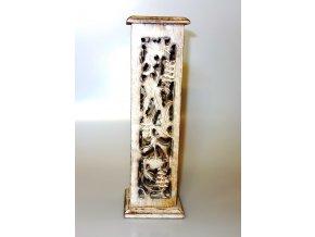Stojánek na vonné tyčinky dřevěný Věž Antik, 30 cm