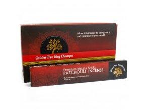 Vonné tyčinky Premium Nag Champa Golden Tree Patchouli, 15 g
