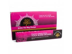 Vonné tyčinky Premium Nag Champa Golden Tree Yoga Blend, 15 g