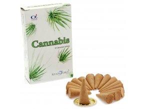 Vonné kužely Stamford Premium Cannabis, 15 ks