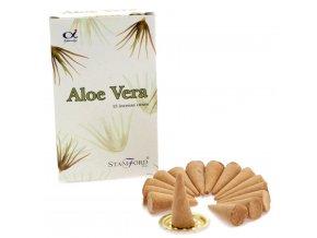 Vonné kužely Stamford Premium Aloe Vera, 15 ks