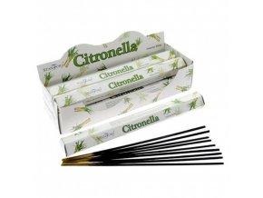 Vonné tyčinky Stamford Premium Citronella, 20 ks