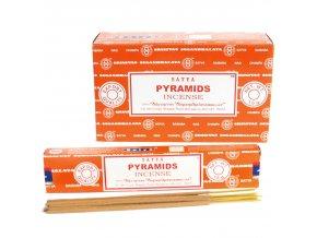 Vonné tyčinky Shrinivas Satya Pyramids, 15 g
