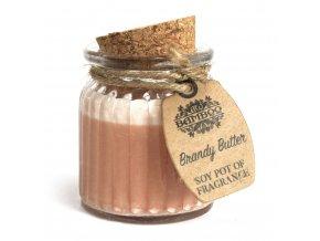 Sojová vonná svíčka Koňakové máslo, 60 g
