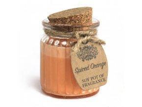 Sojová vonná svíčka Kořeněný pomeranč, 60 g
